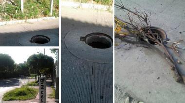 En Barranquilla, ciudadanos alertan sobre manjoles descubiertos