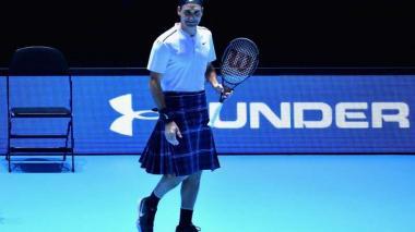 Federer enfrentó a Andy Murray en falda