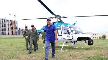 Llega helicóptero de la Policía para reforzar la seguridad en Barranquilla