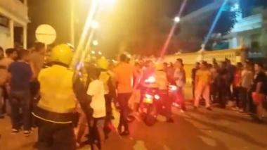 """""""Batalla campal"""" con buscapiés en inicio de fiestas de la Independencia en Cartagena"""
