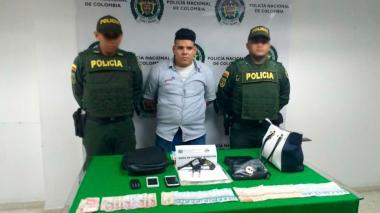Alexander Augusto Álvarez, capturado.