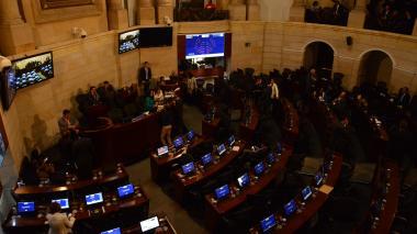 Plenaria del Senado de la República, en las instalaciones del Capitolio Nacional.