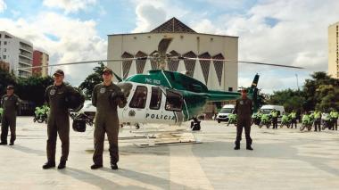 El helicóptero Bell 407, conocido como 'Halcón Verde'.