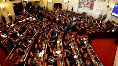 Aspecto de la Plenaria de la Cámara de Representantes en el Capitolio.