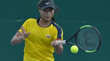 La tenista María Fernanda Herazo en Santa Marta.