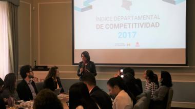 La presidenta del CPC, Rosario Córdoba, durante la presentación del informe.