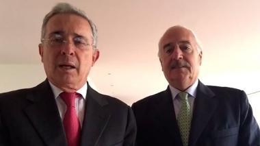 Uribe y Pastrana anuncian que tendrán candidato presidencial conjunto