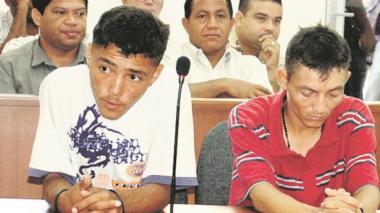 Yorman Flórez (suéter blanco) y Luis Pérez, condenados.
