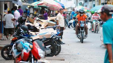 Aspectos de un grupo de motos en Valledupar.