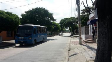 En este sector del barrio San Felipe fue supuestamente abordada la joven.