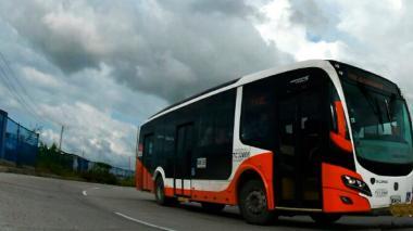 Bus de Transcaribe que opera en Cartagena.