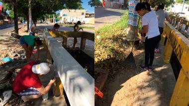 Realizan jornada de limpieza en el barrio Las Palmas