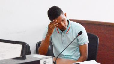 Leider Pérez, alias Guandolo, durante las audiencias.