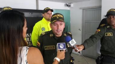 Coronel Hugo Molano, comandante operativo de la Policía Metropolitana de Barranquilla.
