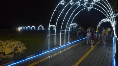 Se encienden las luces de navidad en Riohacha