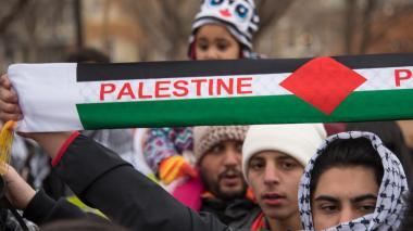 Musulmanes frente a la Casa Blanca