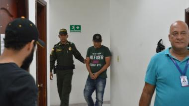 Levith Aldemar Rúa Rodríguez, tras finalizada la audiencia de este viernes.