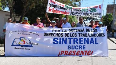 Los miembros del Sindicato se hicieron presente en la Asamblea.