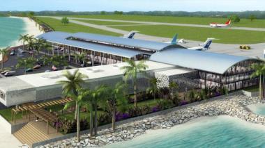 Fachada del aeropuerto de Santa Marta.