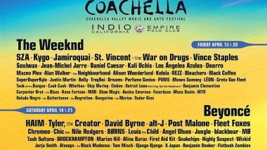 The Weeknd, Beyoncé y Eminem estarán en Coachella