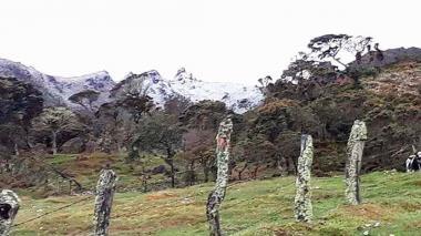 Caleños volvieron a ver la nieve en el páramo de las Tinajas luego de 20 años