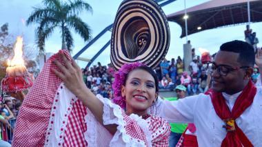 Derroche de folclor en el desfile de fandangueros en Sincelejo
