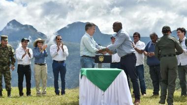Nuestra meta es dejar 30 millones de hectáreas protegidas, dijo Santos desde Codazzi