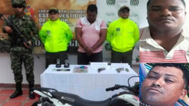 Caen alias Niche y alias Tribilín por homicidio de testigos en caso del ex alcalde de Moñitos