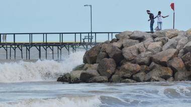 Las playas de Riohacha fueron restringidas para los bañistas y embarcaciones.