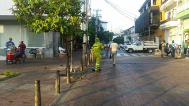 Operativo integral de aseo y limpieza en las calles del Centro Histórico.