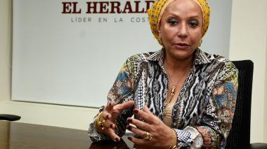 Piedad Córdoba durante la entrevista en las instalaciones de esta casa editorial.