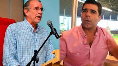 El gobernador del Atlántico, Eduardo Verano De la Rosa, junto al alcalde de Barranquilla, Alejandro Char.