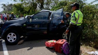 """""""Ella iba a Barranquilla a llevar a sus hijos"""", familiares de personera que murió en accidente"""