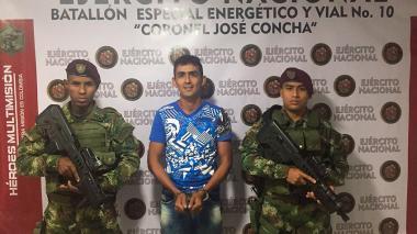 Detenido 'Sumalave', presunto explosivista del Eln en Catatumbo