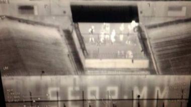 Captura del video de cámaras de seguridad.