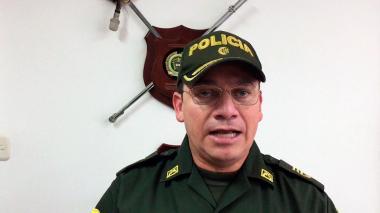 Coronel Carlos Eduardo Rojas, comandante de Policía de Montería.
