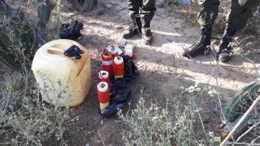 A los implicados se les halló en su poder 130 gramos de explosivo C4.
