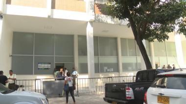Entrada a la URI de la Fiscalía, en el Centro.