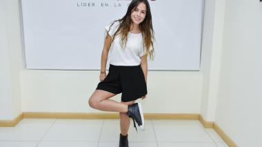 Clemencia Vargas, en su visita a EL HERALDO.
