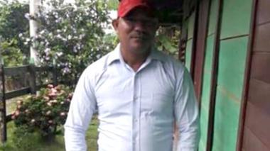 Luis Arturo Royet, líder asesinado.