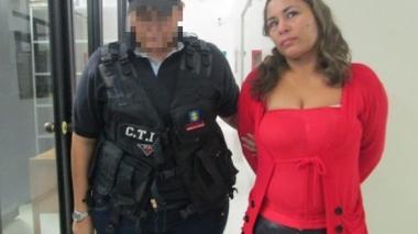 La mujer fue capturada por el CTI de Ibagué.