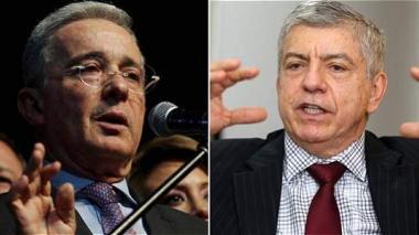 Los expresidentes de Colombia, Álvaro Uribe Vélez y César Gaviria.