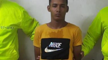 Alex Eduardo Molina Mejía, alias Pipo, capturado por la Policía.