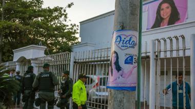 La sede de la senadora electa Aida Merlano allanada por la Policía.