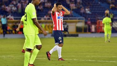Teófilo Gutiérrez tuvo poca participación en el encuentro.
