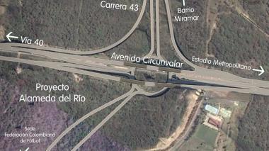 'Render' del proyecto de prolongación de la carrera 43, en la Circunvalar.