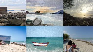 Las acuarelas documentan la residencia de la artista Juliana Ríos en Sitka (Alaska ) y su recorrido desde el Cabo de la Vela hasta llegar a Mompox.
