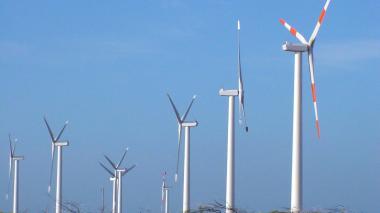 Parque eólico ubicado al norte del departamento de La Guajira.
