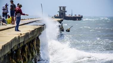 Continúan fuertes vientos en cinco departamentos de la Costa
