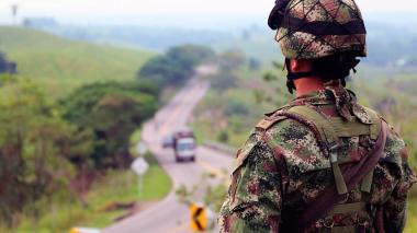 El Ejército vigila las principales carreretas del país en esta Semana Santa.